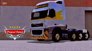 SKIN VOLVO FH 09 GRAFFITY YELLOW