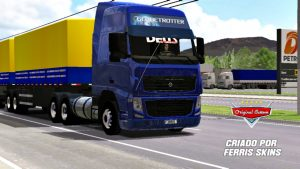SKIN VOLVO FH09 QUALIFICADO AZUL ORIGINAL
