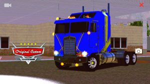 SKIN K100 KENWORTH AZUL QUALIFICADO