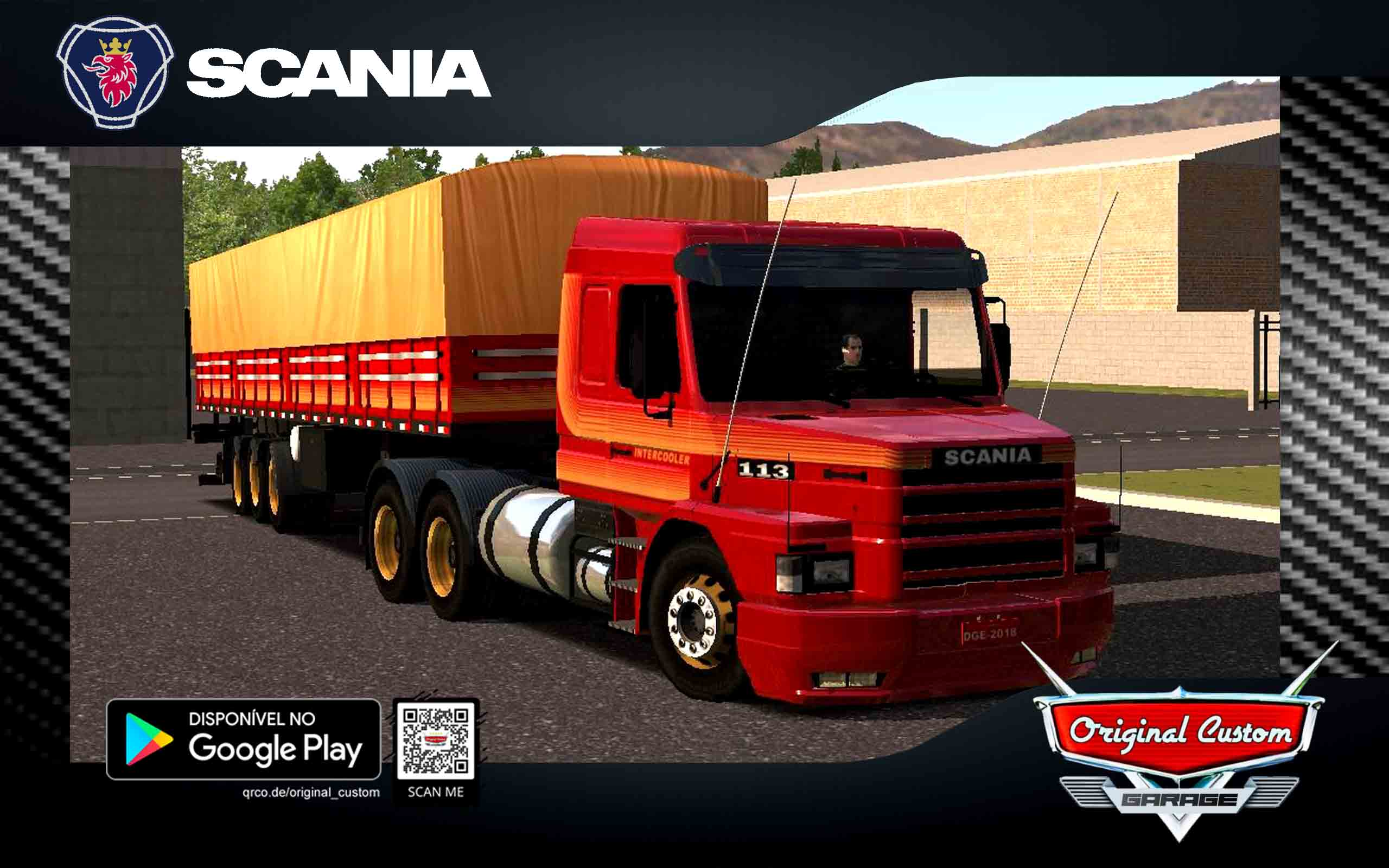 SKIN SCANIA 113H VERMELHA ORIGINAL CUSTOM