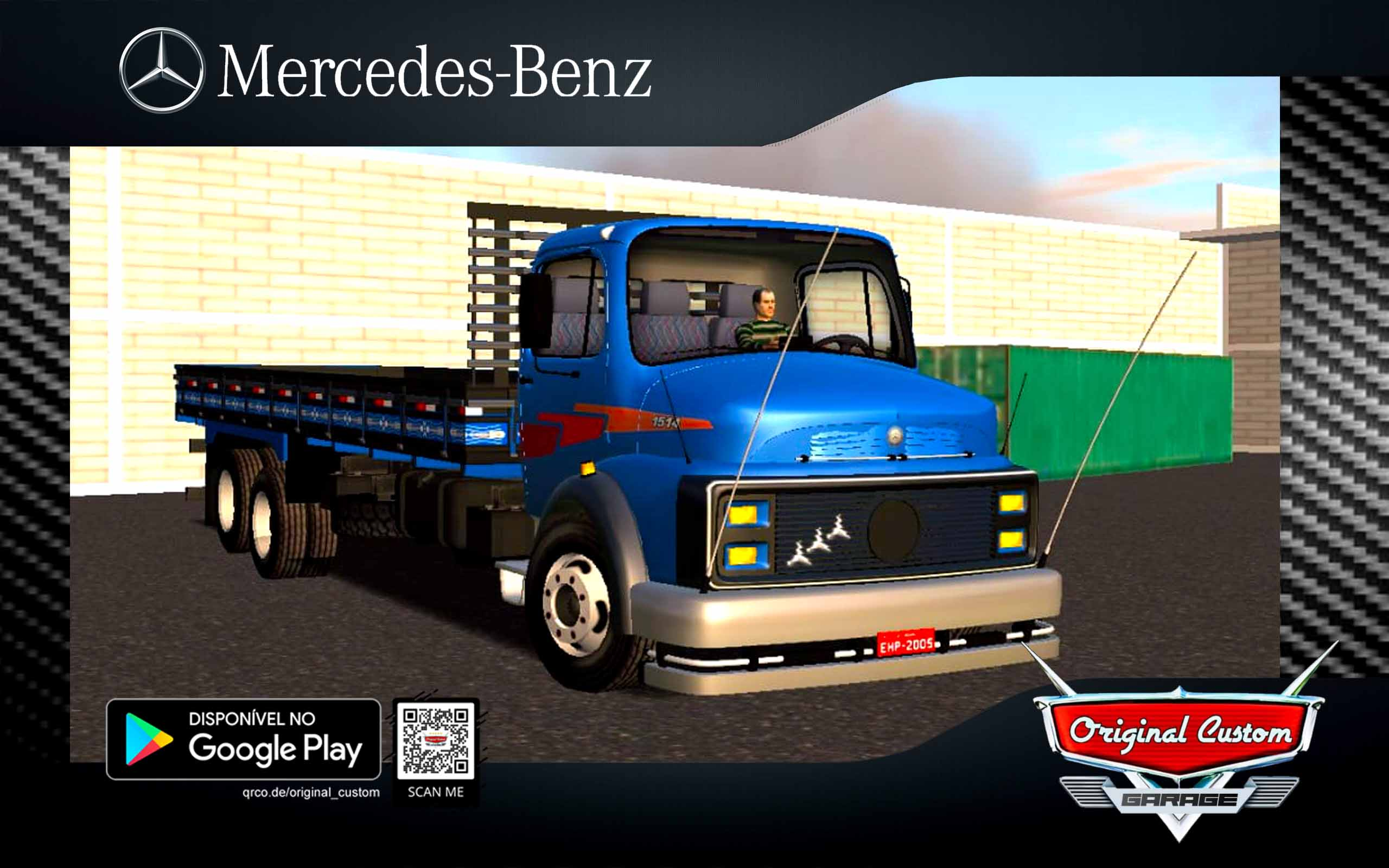 SKIN MERCEDES-BENZ MB-1113 AZUL CUSTOM