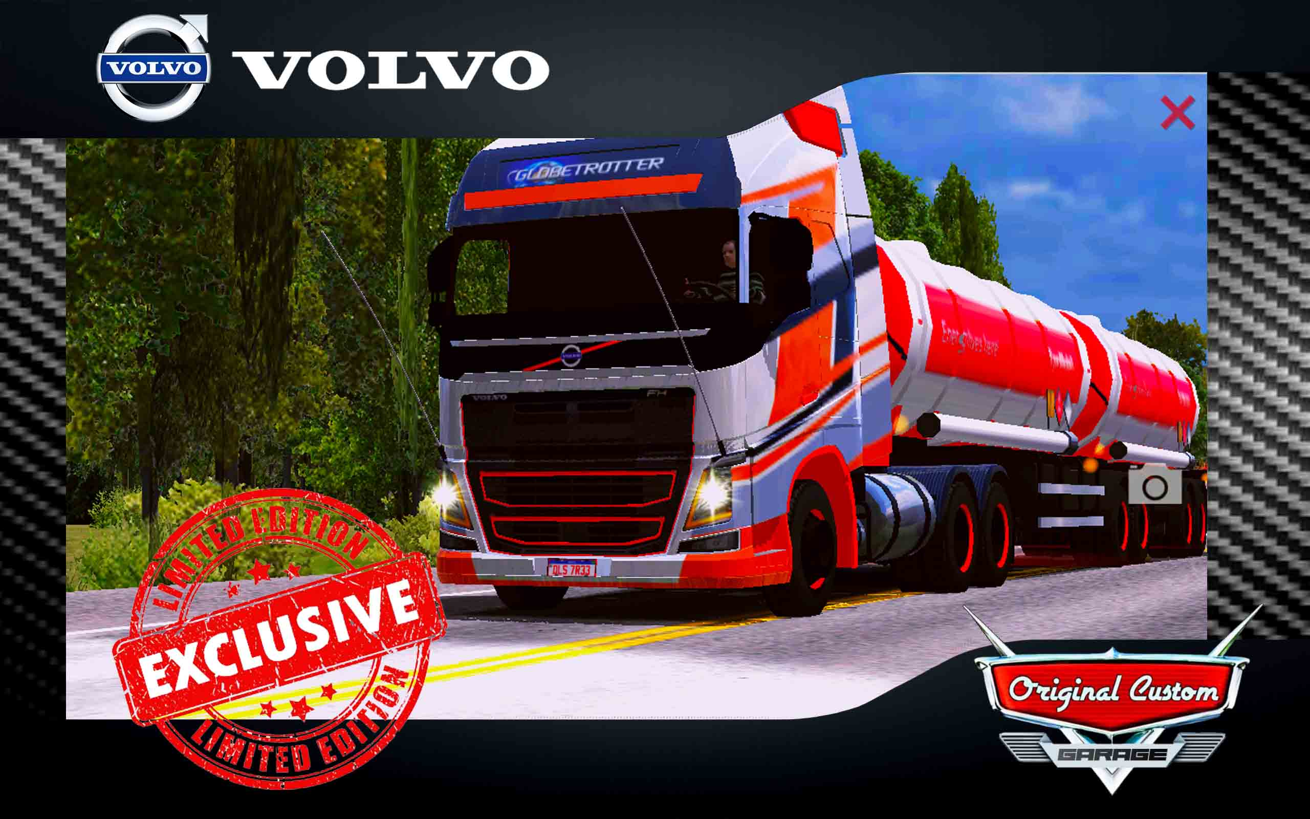 SKIN VOLVO FH16 750CV RACING – WORLD TRUCK DRIVIG SIMULATOR
