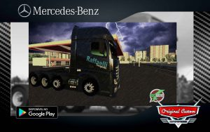 SKIN MERCEDES-BENZ NEW ACTROS RAFFAELLI TRANSPOSTES - SKINS WORLD TRUCK DRIVING SIMULATOR WTDS