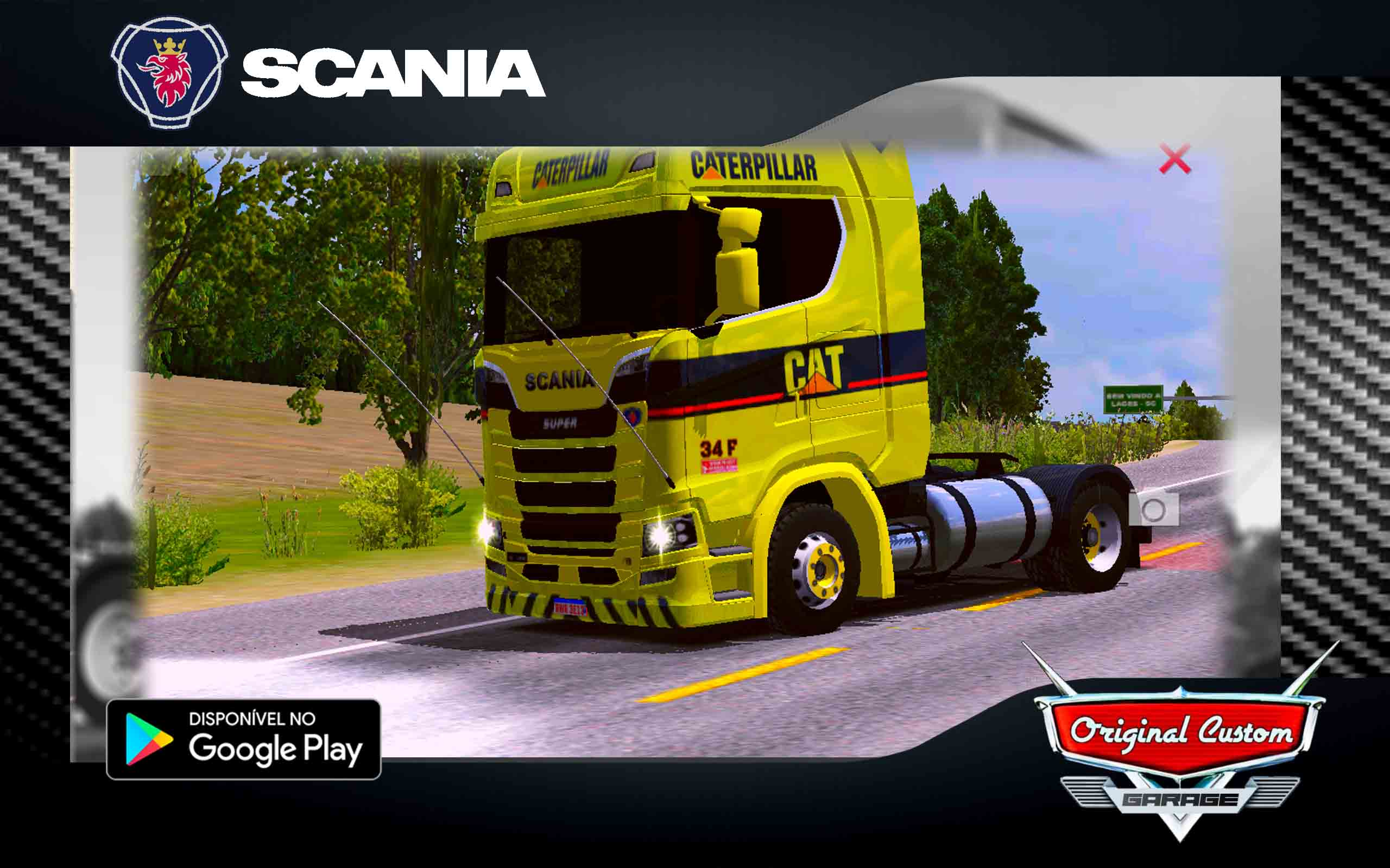SKIN SCANIA S 730 CATERPILLER – SKINS WTDS