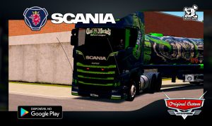 SKIN SCANIA S730 GAS MONKEY - SKINS WTDS - WORLD TRUCK DRIVING SIMULATOR