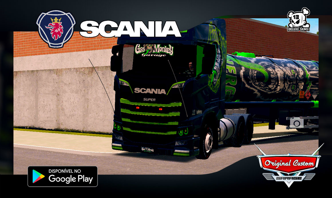 SKIN SCANIA S730 GAS MONKEY – SKINS WTDS – WORLD TRUCK DRIVING SIMULATOR