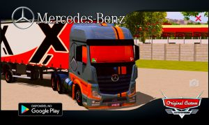 SKINS WTDS WORLD TRUCK DRIVING NEW ACTROS MERCEDES-BENZ ORIGINAL CUSTOM