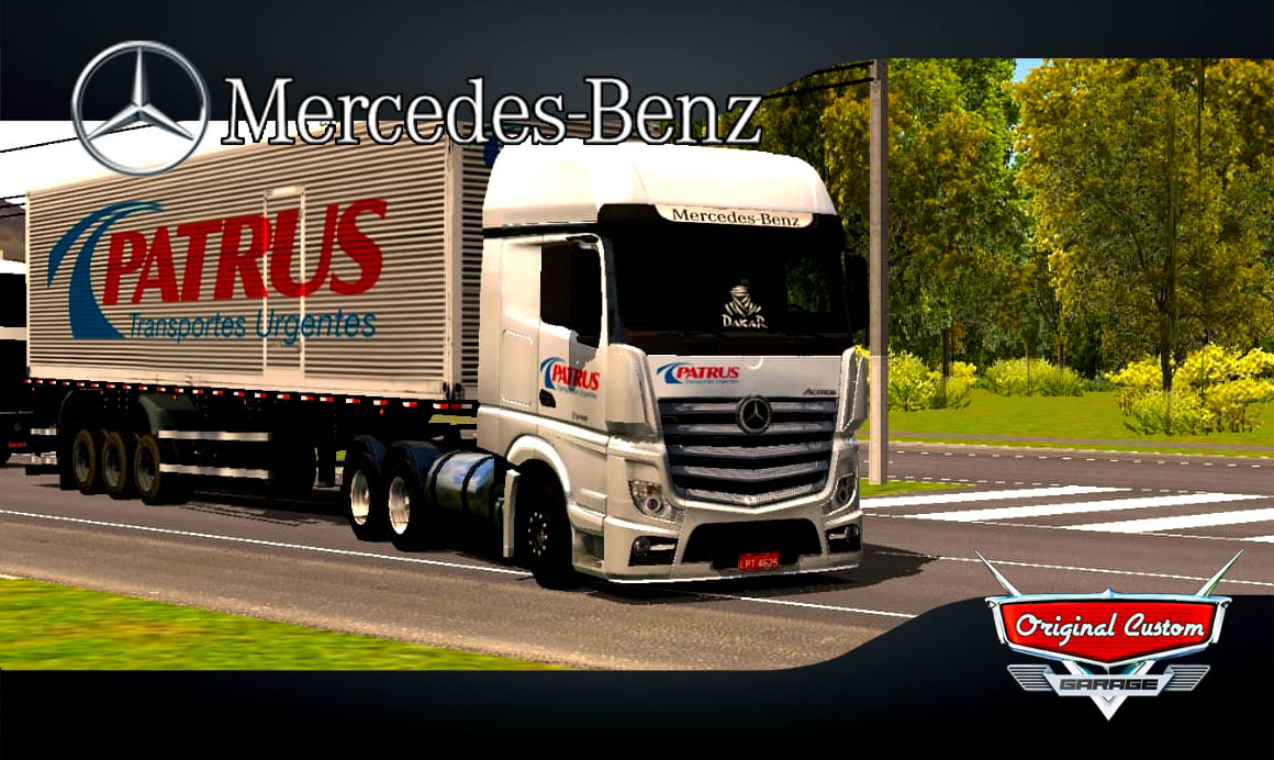 MERCEDES-BENZ ACTROS PATRUS – SKINS WTDS