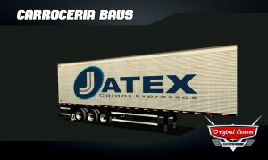 SKINS WTDS BAÚ JATEX CARGAS EXPRESSAS WOLD TRUCK DRIVING