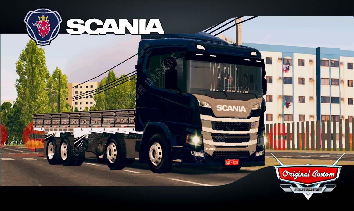 SKINS WORLD TRUCK DRIVING – SCANIA P320  QRA.ARRANHA CÉU