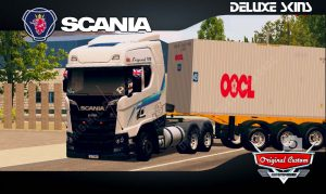 SKINS WORLD TRUCK DRIVING - SCANIA S V8 CONTRAINER