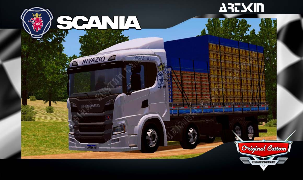 SKINS WORLD TRUCK DRIVING SIMULATOR – SCANIA P320