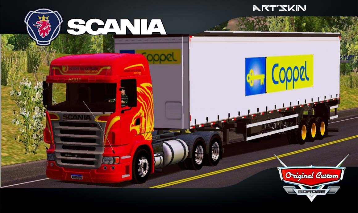 SKINS WORLD TRUCK DRIVING SIMULATOR – SCANIA r420 HEROIS