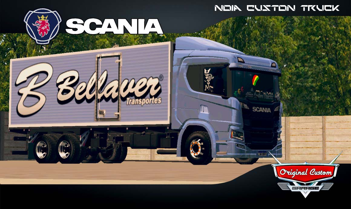 SKINS WORLD TRUCK DRIVING SIMULATOR – SCANIA P320 BELLAVER AZUL