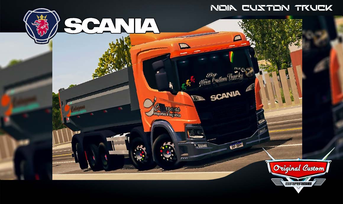 SKINS WORLD TRUCK DRIVING SIMULATOR –  SCANIA P320 QUALIFICADA