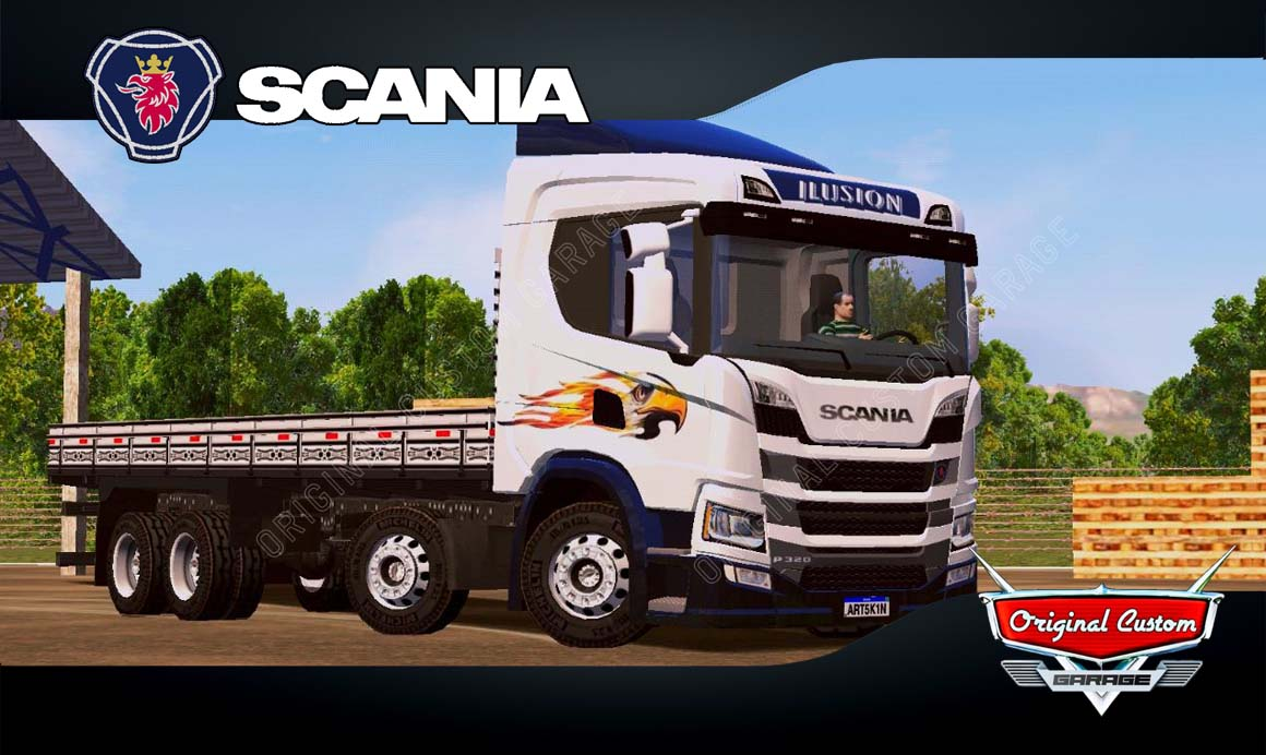 SKINS WORLD TRUCK DRIVING  SIMULATOR – SCANIA P320 CARROCERIA