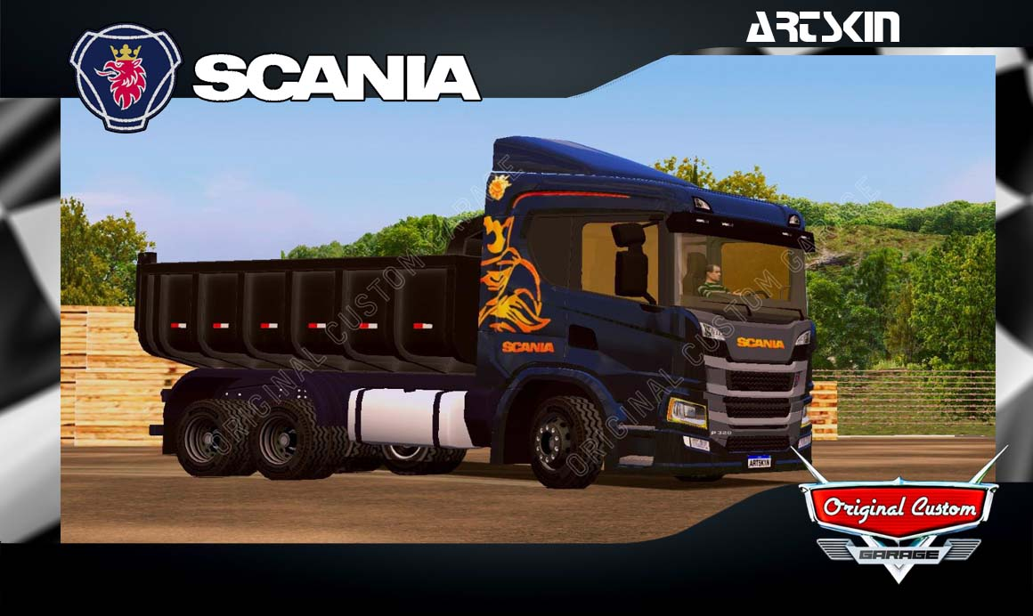 SKINS WORLD TRUCK DRIVING SIMULATOR  – SCANIA P320 BLACK
