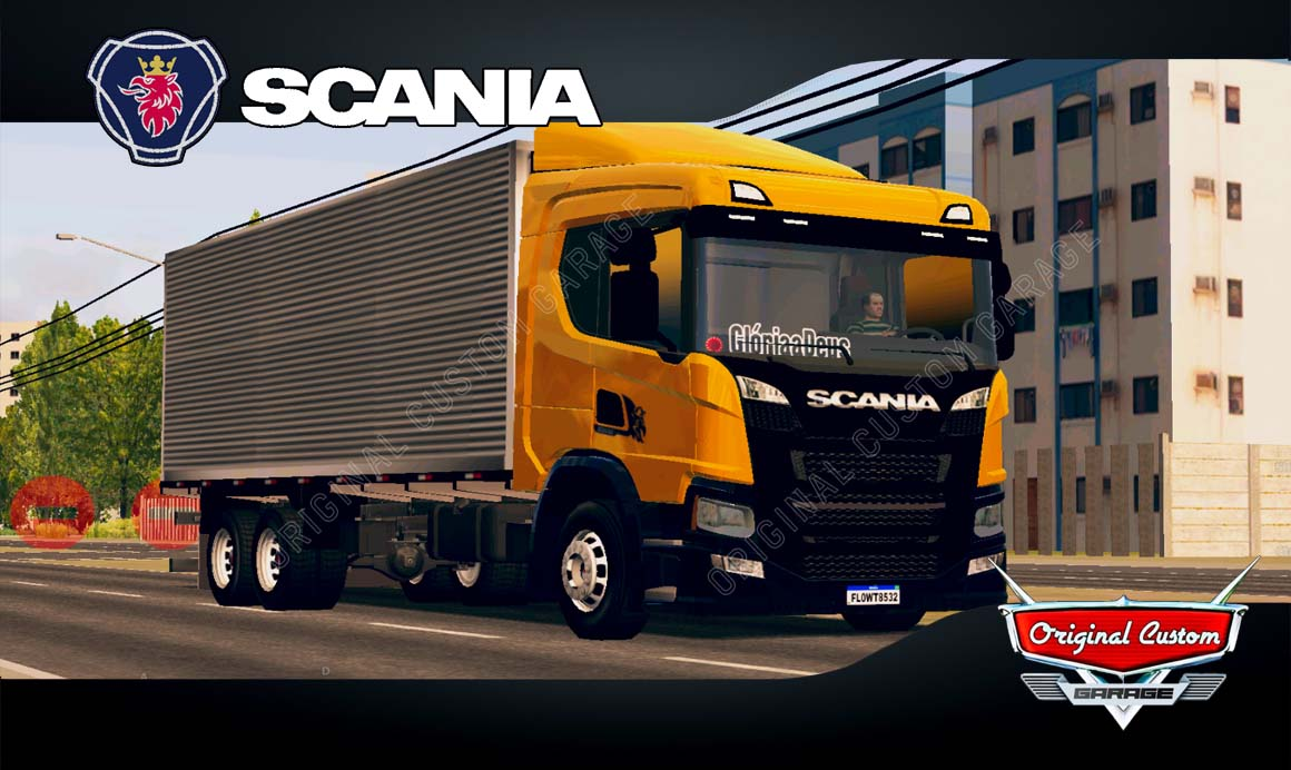 SKINS WORLD TRUCK DRIVING SIMULATOR – SCANIA P320 BAÚ
