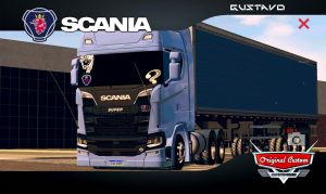 SKINS WORLD TRUCK DRIVING SIMULATOR - SCANIA S V8