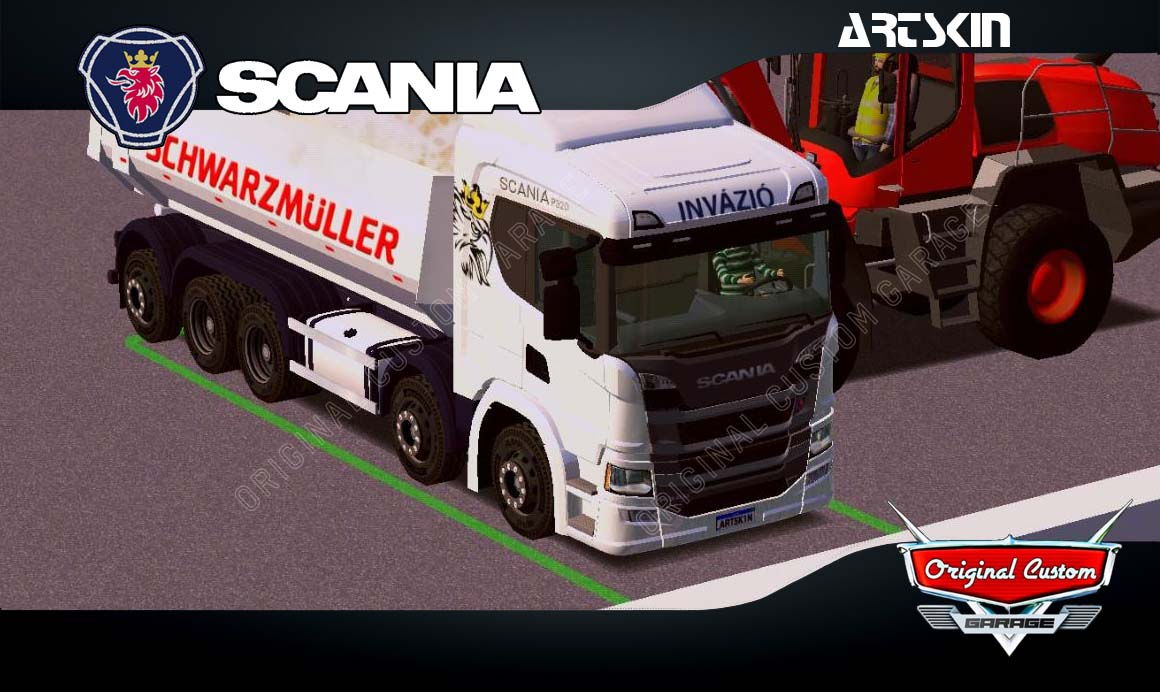 SKINS WORLD TRUCK DRIVING SIMULATOR – SCANIA P320 CAÇAMBA