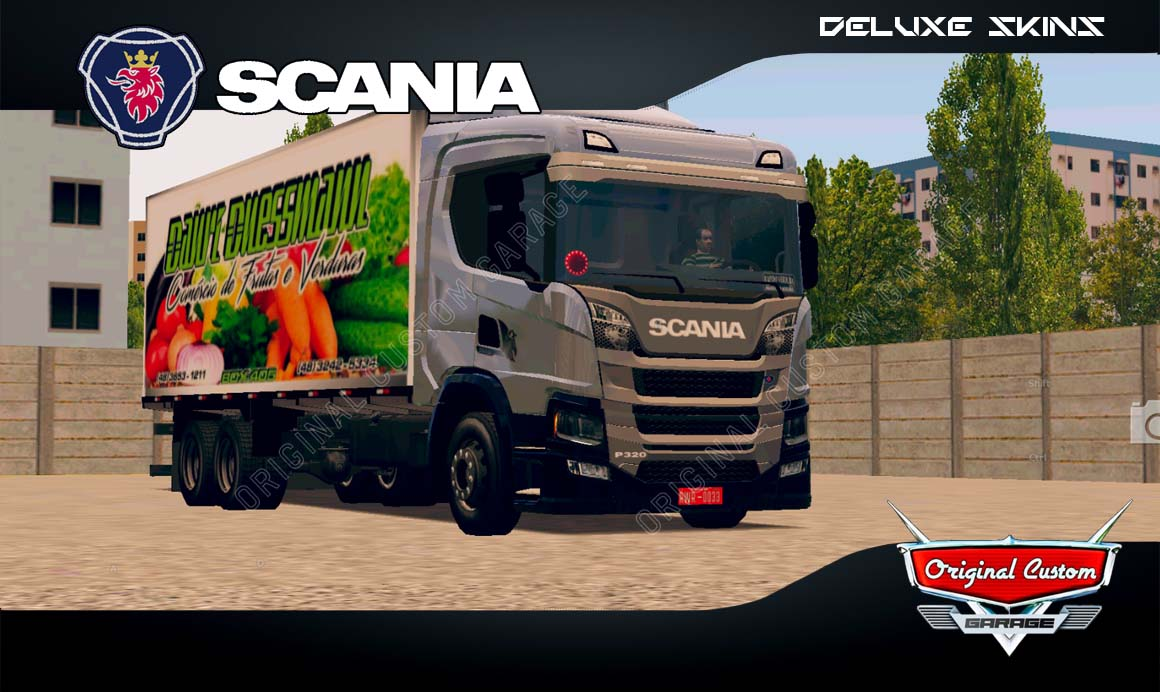 SKINS WORLD TRUCK DRIVING SIMULATOR  – SCANIA P320 HORT-FRUT
