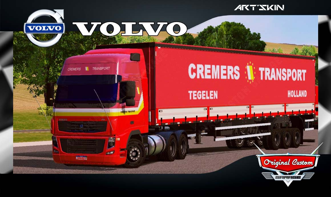 SKINS WORLD TRUCK DRIVING SIMULATOR – VOLVO CREMES TRANSPORT