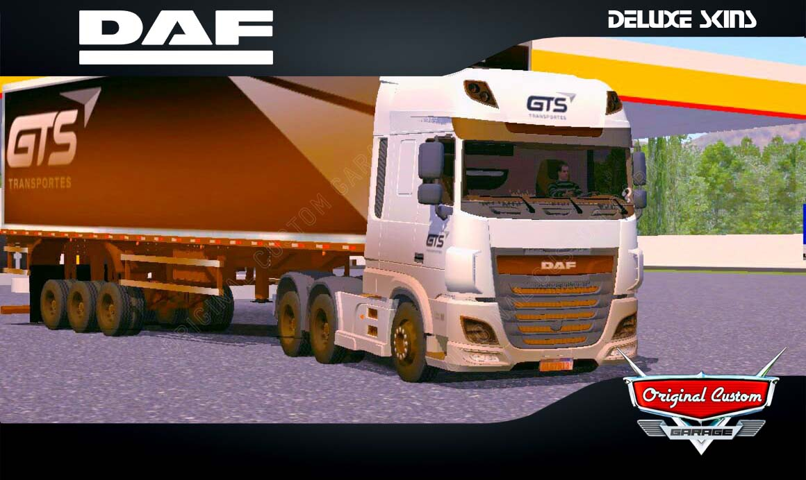 SKINS WORLD TRUCK DRIVING – DAF XF GTS TRANSPORTES