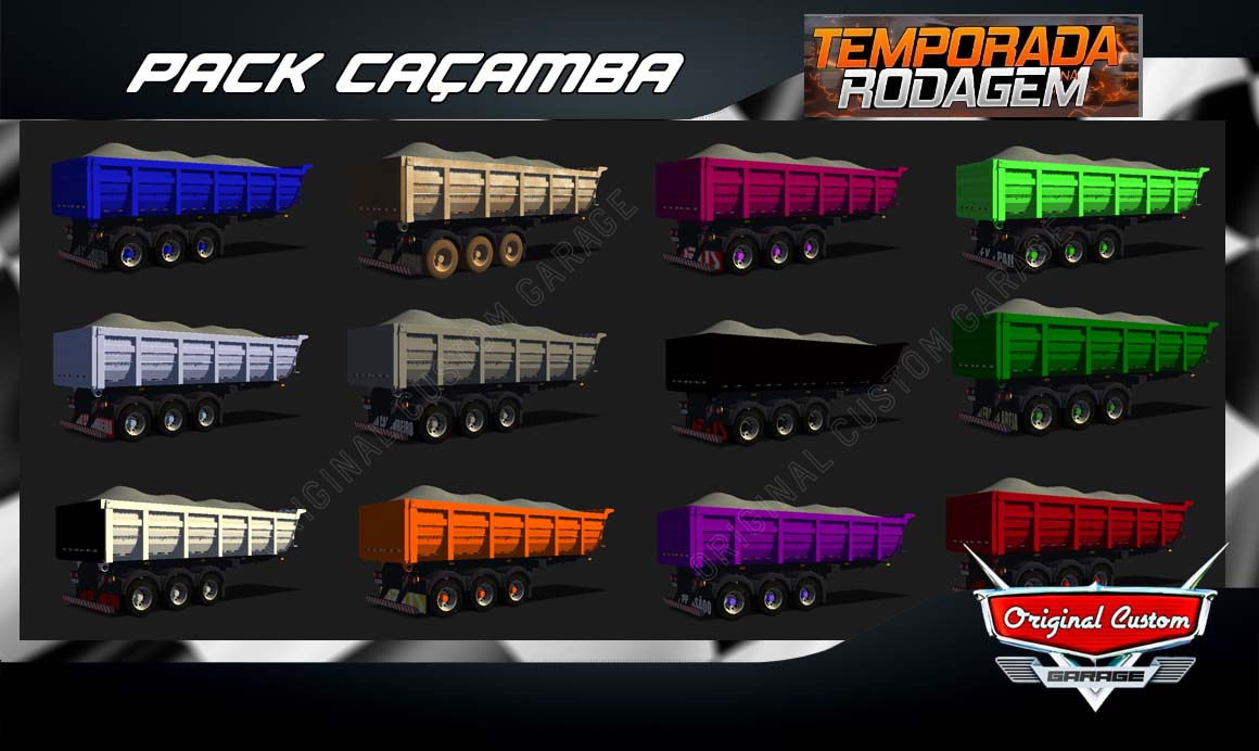 SKINS WORLD TRUCK DRIVING – PACK CAÇAMBAS