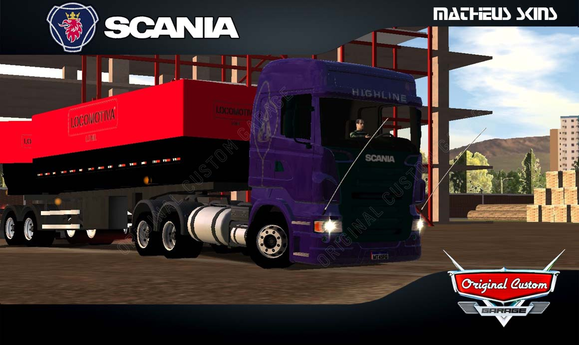 SKINS WORLD TRUCK DRIVING – SCANIA R480 HIGHLINE