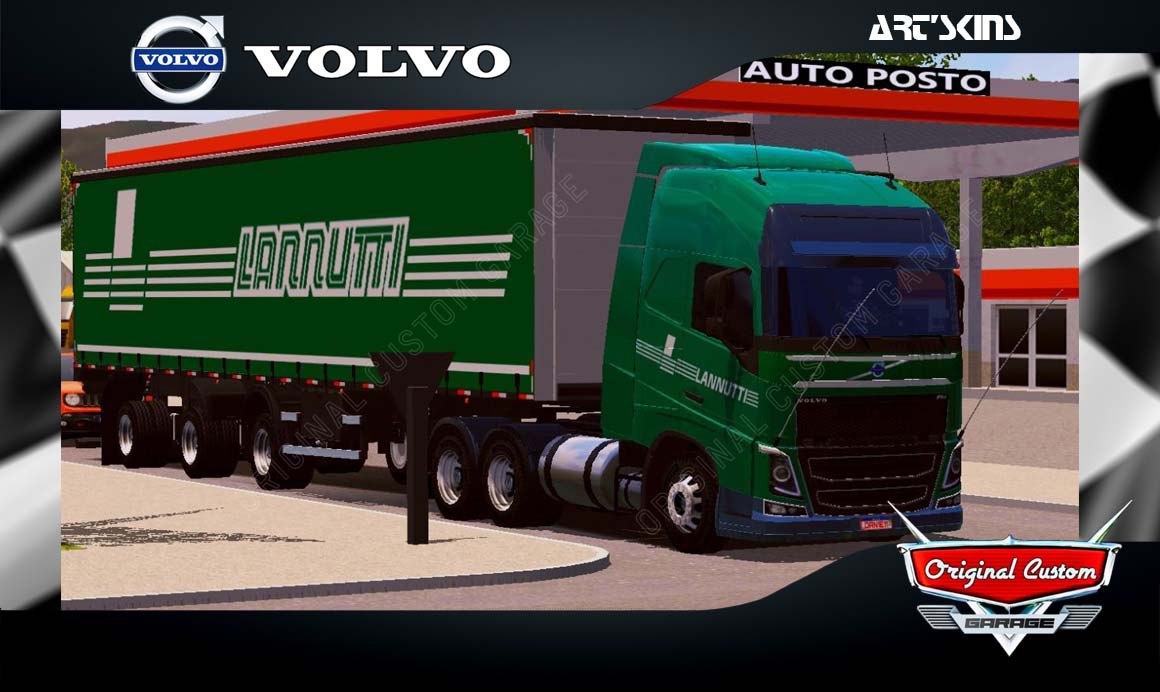 SKINS WORLD TRUCK DRIVING SIMULATOR – VOLVO LANNUTTI