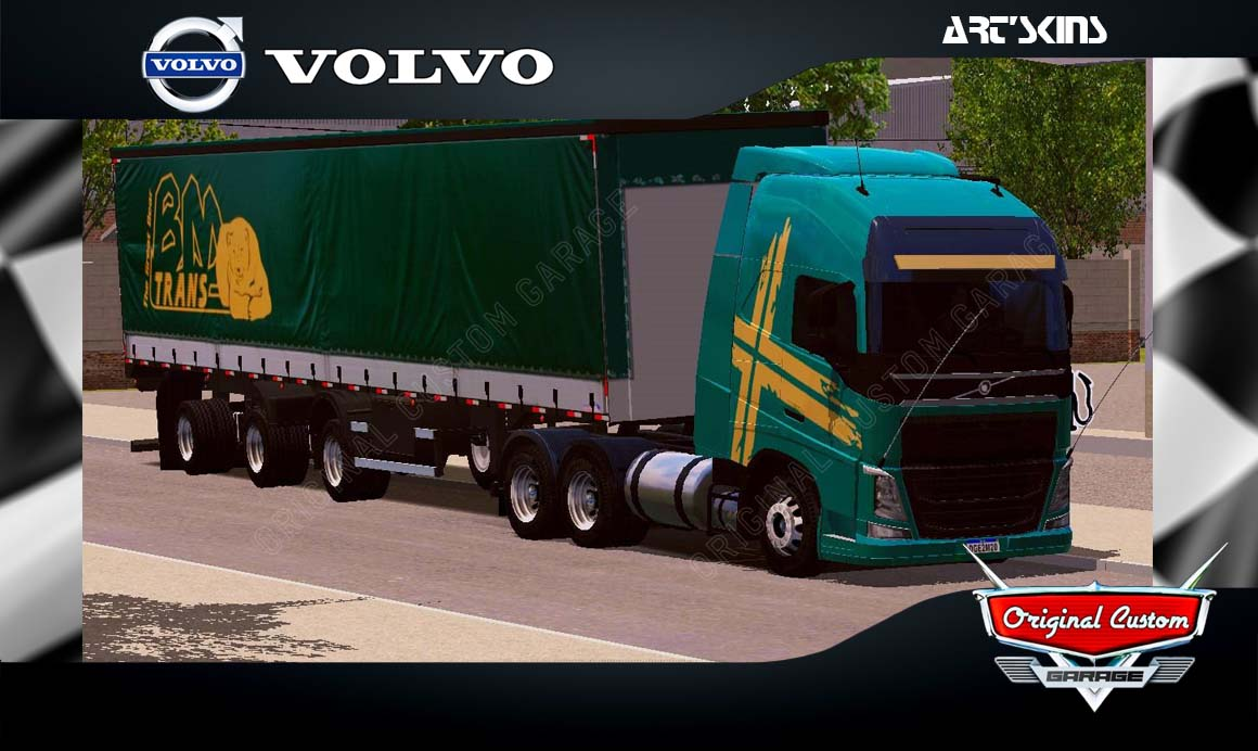 SKINS WORLD TRUCK DRIVING SIMULATOR – VOLVO BM TRANS