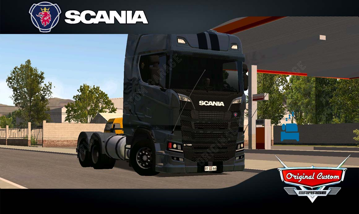 SKINS WORLD TRUCK DRIVING – SCANIA S MUSTANG BLACK