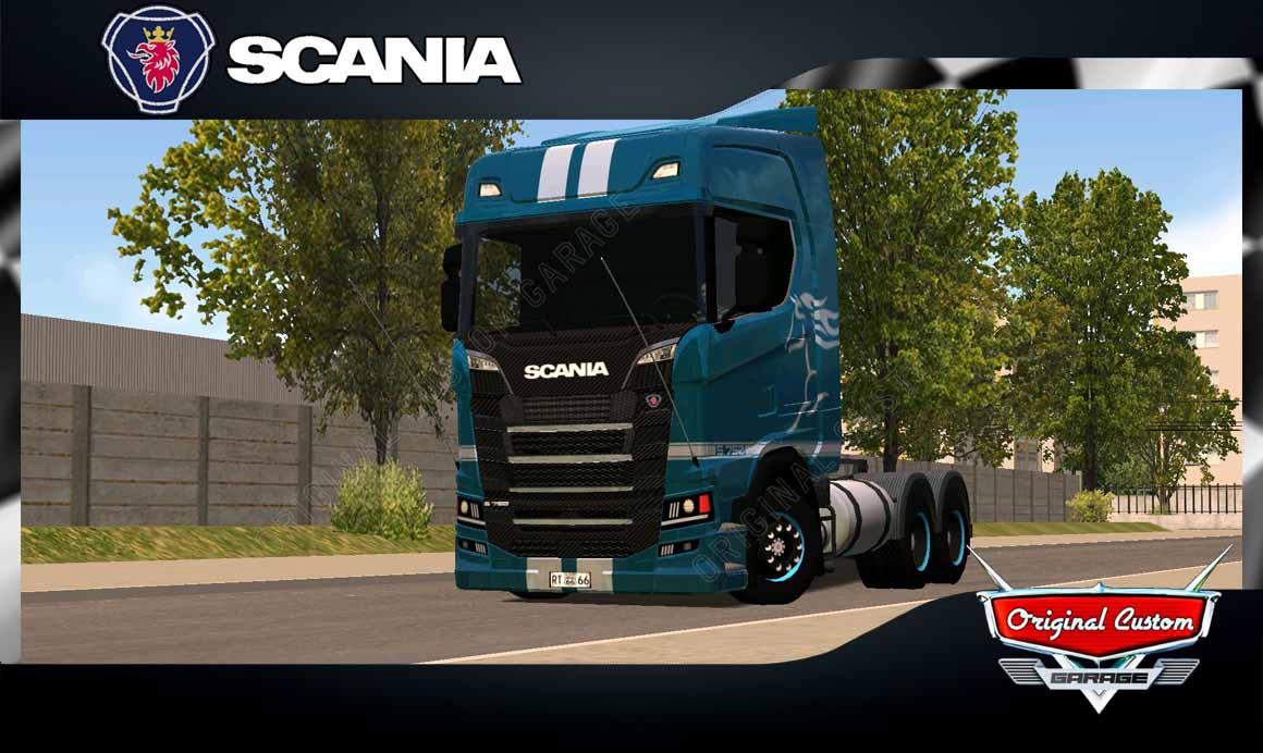 SKINS WORLD TRUCK DRIVING – SCANIA S MUSTANG BLUE