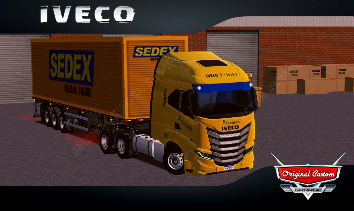 SKINS WORLD TRUCK DRIVING – IVECO S-WAY CORREIOS