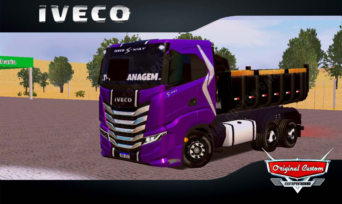SKINS WORLD TRUCK DRIVING – IVECO S-WAY ROXO