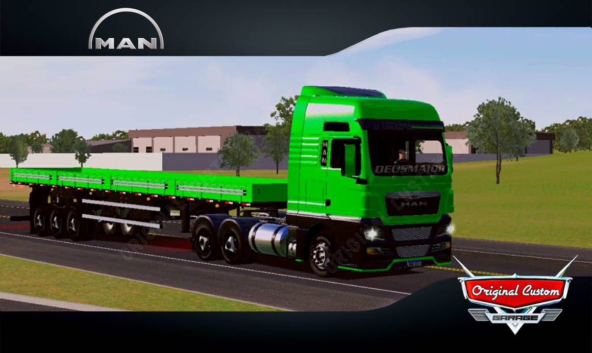 SKINS WORLD TRUCK DRIVING – MAN TGX VERDE