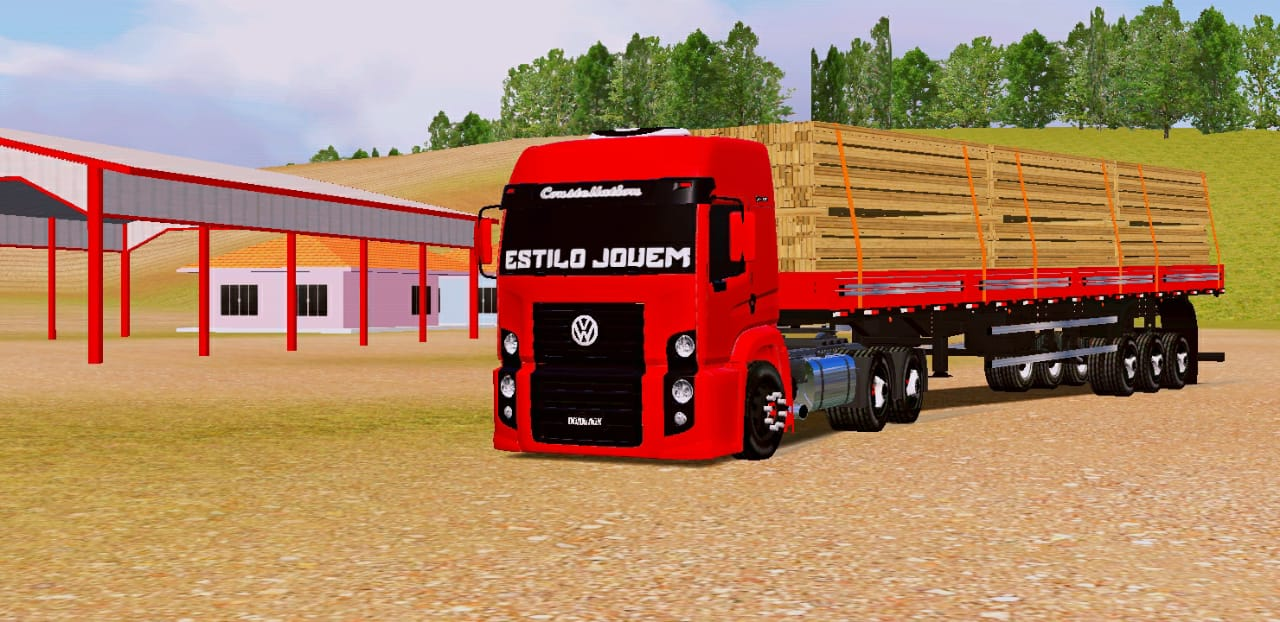 SKINS MOD WORLD TRUCK DRIVING – VW CONSTELLATION RED