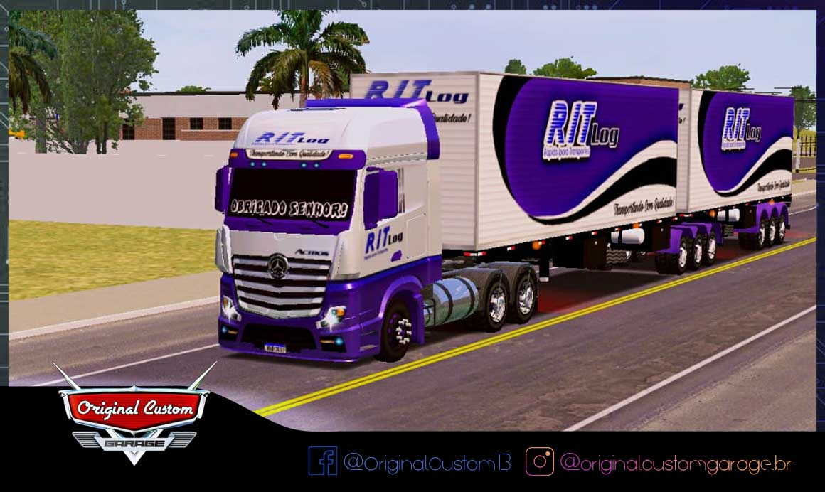 SKINS WORLD TRUCK DRIVING – NEW ACTRO RIT LOG