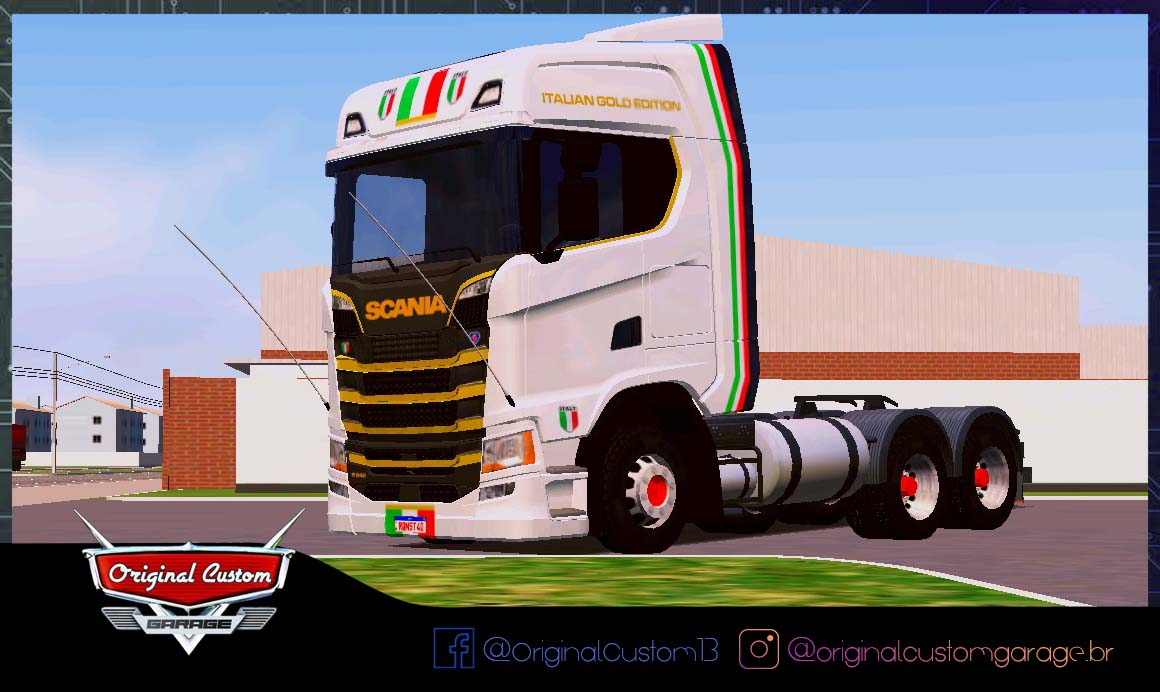 SKINS WORLD TRUCK DRIVING – SCANIA S ITALIAN GOLD EDITION